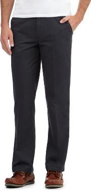 Big And Tall Dark Grey Tailored Fit Chinos