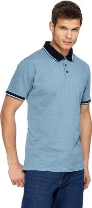 Big And Tall Dark Turquoise Tuck Stitch Polo Shirt