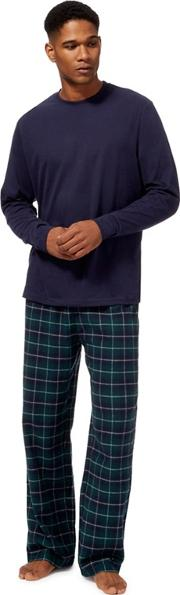 Big And Tall Green Checked Pyjama Set