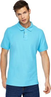 Big And Tall Light Turquoise Contrast Placket Polo Shirt