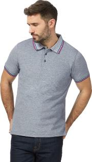 New England Big And Tall Navy Contrasting Tipping Tailored Fit Polo Shirt