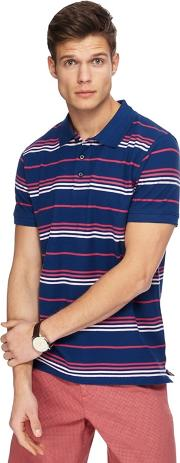 Big And Tall Navy Striped Polo Shirt