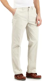 Big And Tall Off White Tailored Chinos