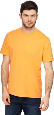 Big And Tall Orange Crew Neck T Shirt