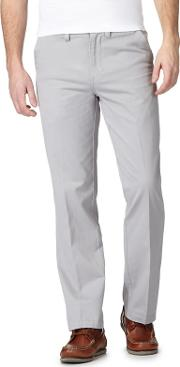 Big And Tall Pale Grey Chino Trousers