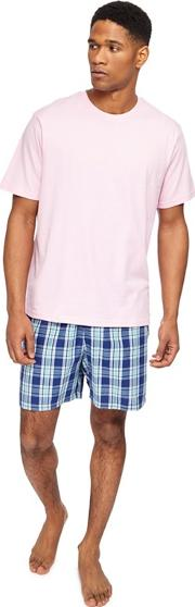 Big And Tall Pink Checked Pyjama Set