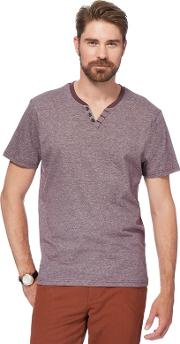 Big And Tall Plum Feeder Notch Striped T Shirt