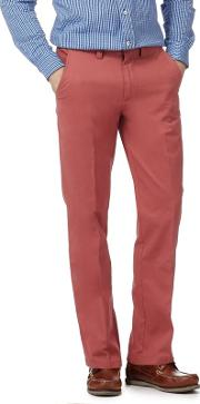 New England Big And Tall Terracotta Tailored Fit Chinos