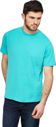 Big And Tall Turquoise Crew Neck T Shirt