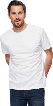New England Big And Tall White Crew Neck T Shirt