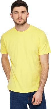 Big And Tall Yellow Crew Neck T Shirt