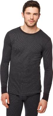 New England Black Brushed Thermal Long Sleeved Top