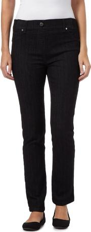 Black Ribbed Waistband Jeggings