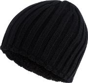 New England Black Thermal Knit Beanie