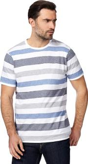 New England Blue Block Striped T Shirt