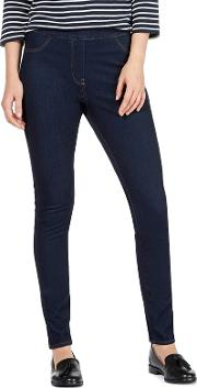 Blue High Waisted Skinny Jeggings
