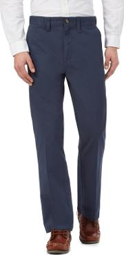 New England Blue Regular Fit Chino Trousers
