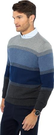 New England Blue Striped Jumper