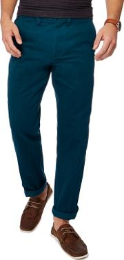 New England Dark Turquoise Tailored Fit Chinos
