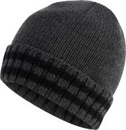 New England Grey Tipped Thermal Knit Beanie