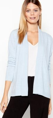 New England Light Blue Ribbed Stripe Cardigan