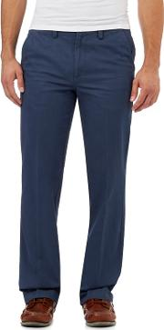 New England Mid Blue Regular Fit Chinos