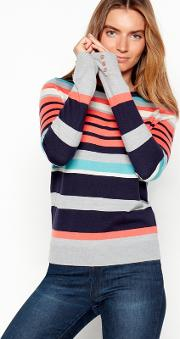 New England Multi Coloured Striped Knit Jumper