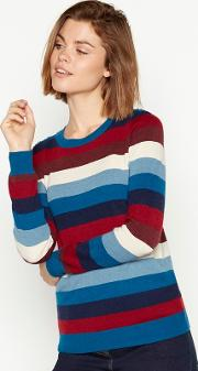 New England Multicoloured Stripe Crew Neck Jumper