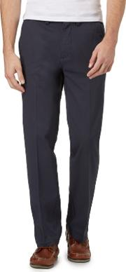 New England Navy Classic Fit Chino Trousers