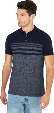 New England Navy Placement Stripe Polo Shirt