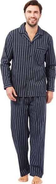 New England Navy Striped Pyjama Set