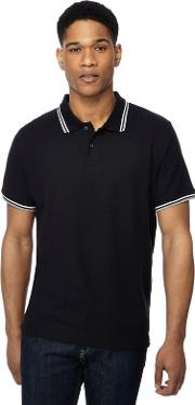 New England Pack Of 2 Black Tipped Polo Shirts
