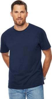 New England Pack Of Two Navy Crew Neck T Shirts