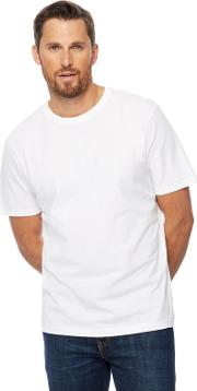 New England Pack Of Two White Crew Neck T Shirts