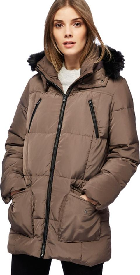 3acb2ad8d2e2a Taupe Faux Fur Trim Hood Padded Coat. Follow maine new england Follow  debenhams