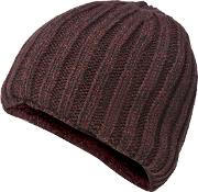 Wine Red Knitted Thermal Beanie
