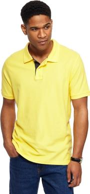 Yellow Contrast Placket Polo Shirt