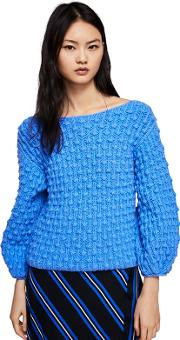 Blue Braided rossy Sweater
