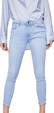 Blue Light Wash isa Skinny Fit Cropped Jeans