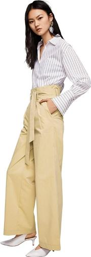 Camel paperbag Pleated Trousers