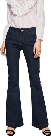 Dark Blue flare Flared Jeans