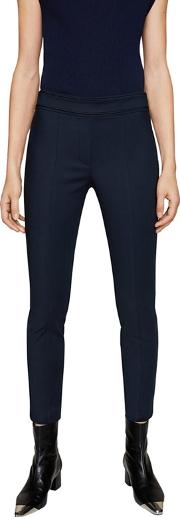 Navy avanti Slim Fit Cropped Trousers