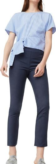 Navy avantibi Slim Fit Cropped Trousers