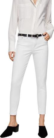 White isa Skinny Fit Cropped Jeans