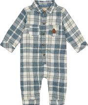 baby Boys Multi Coloured Checked Romper Suit