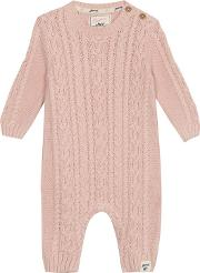 baby Girls Cable Knit Romper