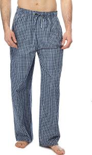 Big And Tall 2 Pack Blue Checked Pyjama Bottoms