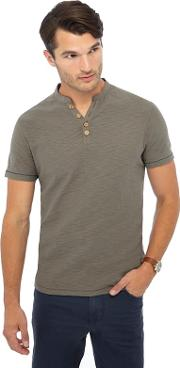 Big And Tall Grey Y Neck T Shirt