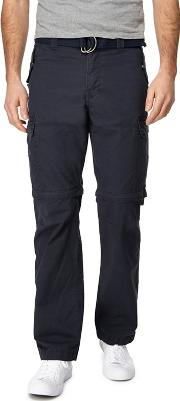 Big And Tall Navy Zip Off Leg Cargo Trousers