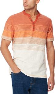 Big And Tall Orange Striped Ombre Effect T Shirt